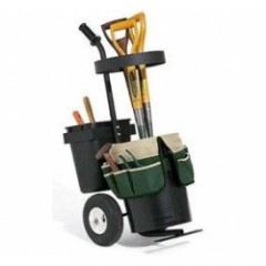 Portable Garden Trolley with Buckets